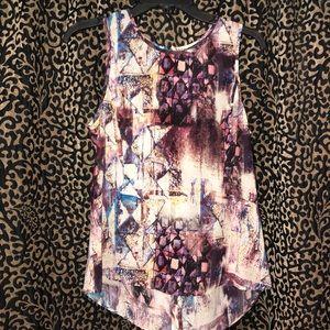 Waverly Grey Silk Sleeveless Blouse Size M